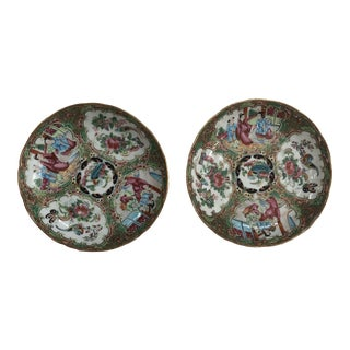 1860 Famille Rose Plates - a Pair For Sale