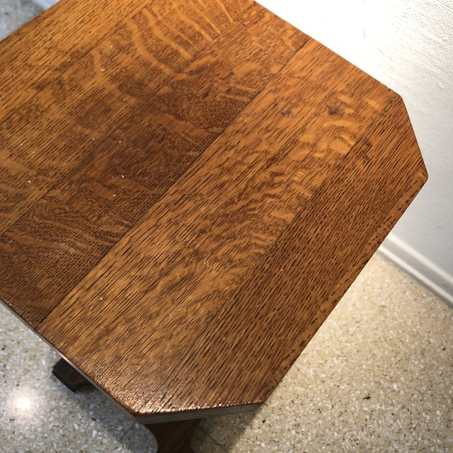 1940s Traditional Oak Pedestal For Sale - Image 10 of 11