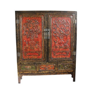 Carved Ming Armoire For Sale
