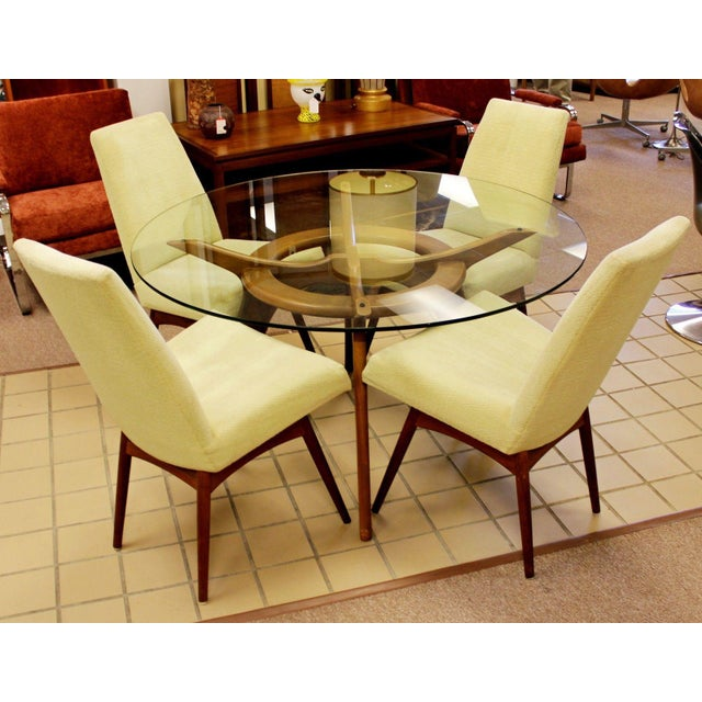 Mid-Century Modern Mid Century Modern Adrian Pearsall Compass Dinette Dining Table & 4 Chairs 1960s For Sale - Image 3 of 12