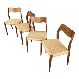 Set of 4 Jl Moller #71 Dining Chairs