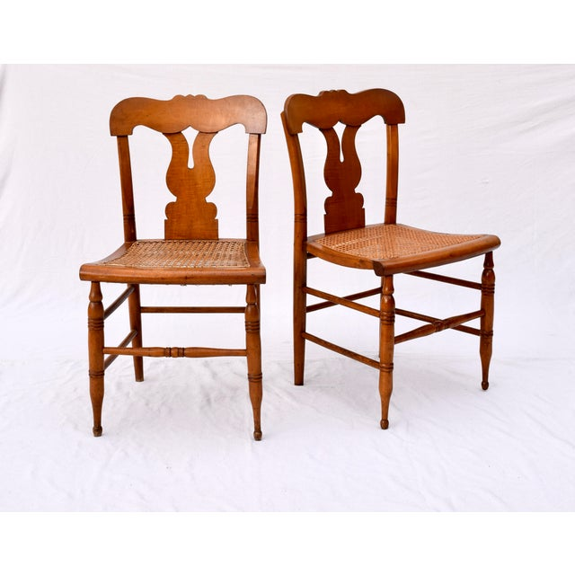 Antique Caned Federal Dining Chairs, Set of Eight For Sale In Philadelphia - Image 6 of 10