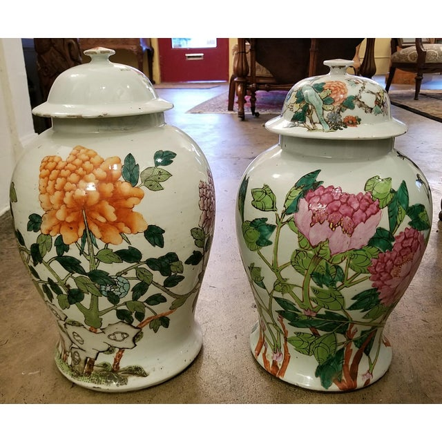 Qing Dynasty Lidded Ginger Jars - a Pair For Sale - Image 13 of 13