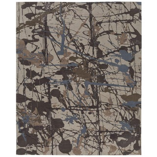ModernArt Collection - Customizable Lapis Rug (8x10) For Sale