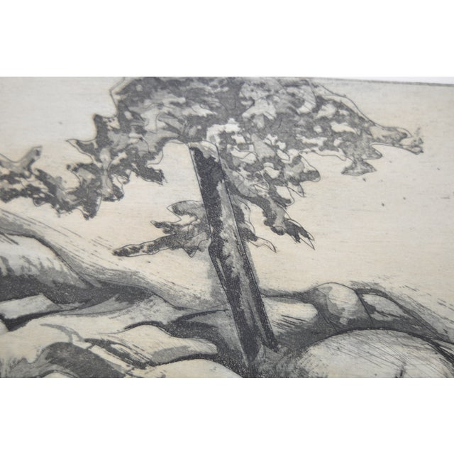 """""""Ledges"""" Etching by Letterio Calapai For Sale In San Francisco - Image 6 of 7"""