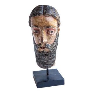 Indo-Portuguese 18th Century Saint Head For Sale