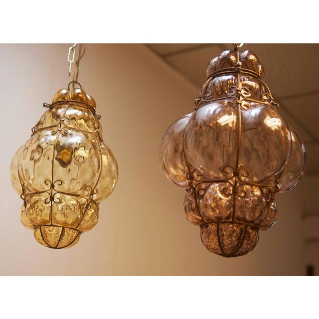 1960s Steel Wire & Glass Pendant Lamp by Seguso Murano, 1960s For Sale - Image 5 of 10