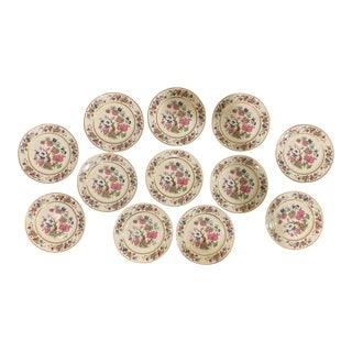 Ahrenfeldt Ovington Brothers Limoges Indian Tree Chinoiserie Plates - Set of 12 For Sale