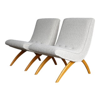 1950s Vintage Milo Baughman for Thayer Coggin Scoop Chairs - A Pair For Sale