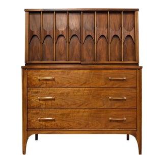 Kent Coffey Perspecta Walnut and Rosewood Dresser