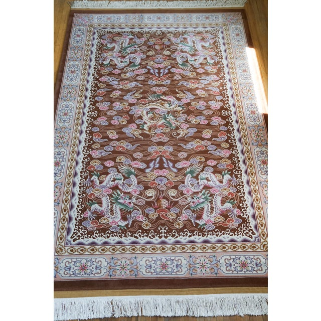 Chinese Hand Knotted Wool Dragon Rug - 6′ × 9′ For Sale - Image 10 of 10