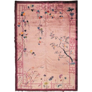 1920s Antique Art Deco Walter Nichols Rug- 10′ × 14′5″ For Sale