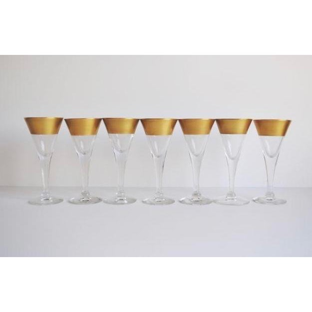 Dorothy Thorpe Cordial Glasses - Set of 7 - Image 3 of 4