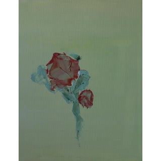 "Bill Tansey ""Rose"" Abstract Floral Oil on Canvas For Sale"