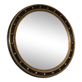 Round Regency Style Wall Mirror For Sale