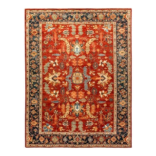 One-Of-A-Kind Oriental Serapi Hand-Knotted Area Rug, Crimson, 8' 8 X 11' 5 For Sale