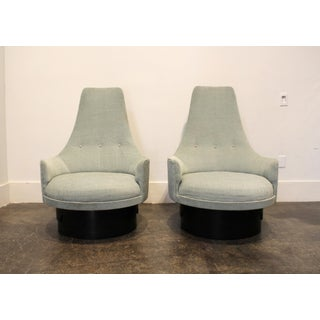 Pair of Mid-Century High Back Swivel Lounge Chairs by Adrian Pearsall Preview