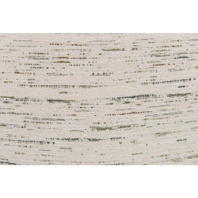 Custom Green & Ivory Velvet Tweed Pillows - a Pair - Image 3 of 5
