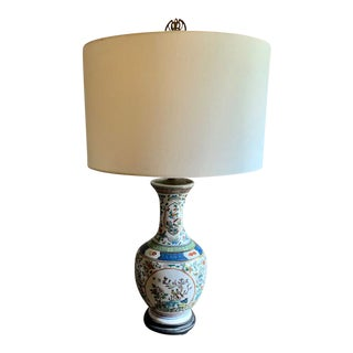 Antique Chinese Porcelain Lamp For Sale