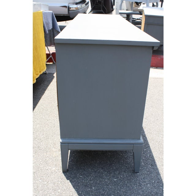 Mid-Century Dark Grey Dresser - Image 4 of 5