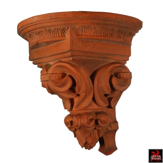 Large Terracotta Corbel Wall Bracket For Sale - Image 4 of 11
