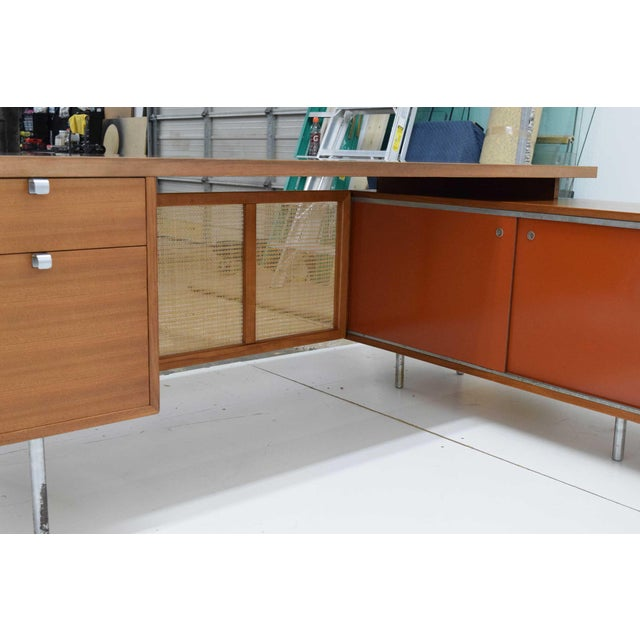 Brown 1952 George Nelson for Herman Miller Executive Desk For Sale - Image 8 of 13
