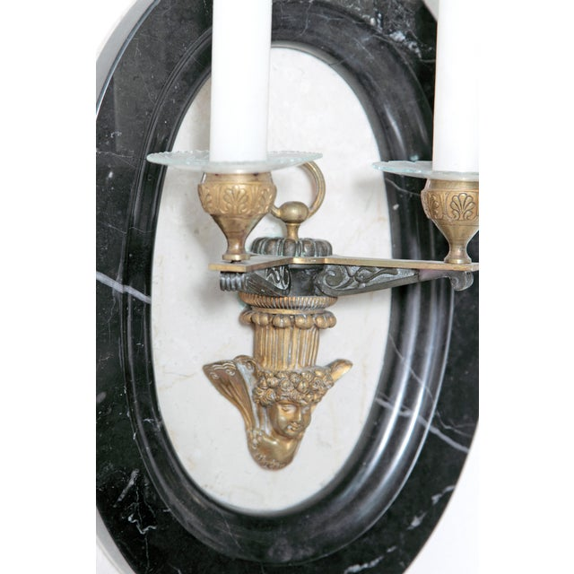 Pair of Neoclassic Style Two Light Sconces For Sale - Image 4 of 11