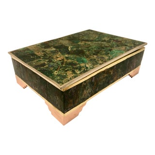 Los Castillo/Taxco Malachite Box For Sale