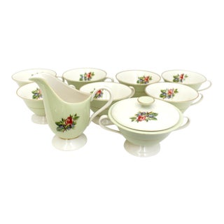 Vintage Fine China Rose Fine China Coffee & Tea Set - Set of 10