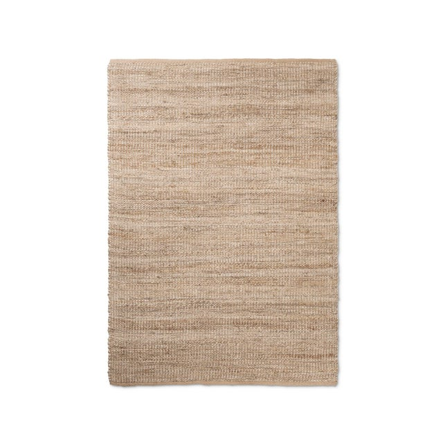 Silver Lurex Natural Weave Area Rug - 5′ × 7′ - Image 2 of 3