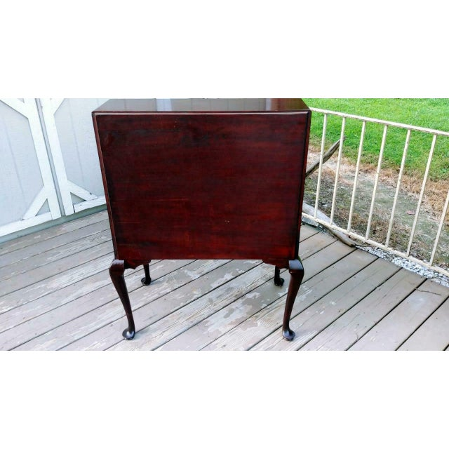 Antique Queen Anne Solid Mahogany Slant Drop Front Secretary Desk For Sale - Image 4 of 13