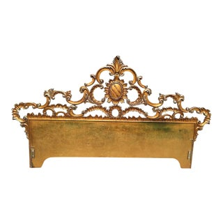 On Sale - Carved Gilt King Headboard For Sale
