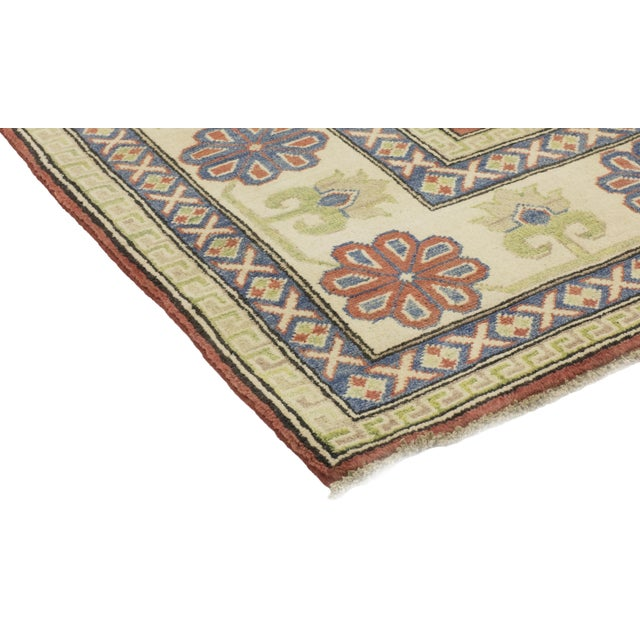 "Traditional Casquis, Kazak Area Rug - 8' 0"" X 9' 9"" For Sale - Image 3 of 4"