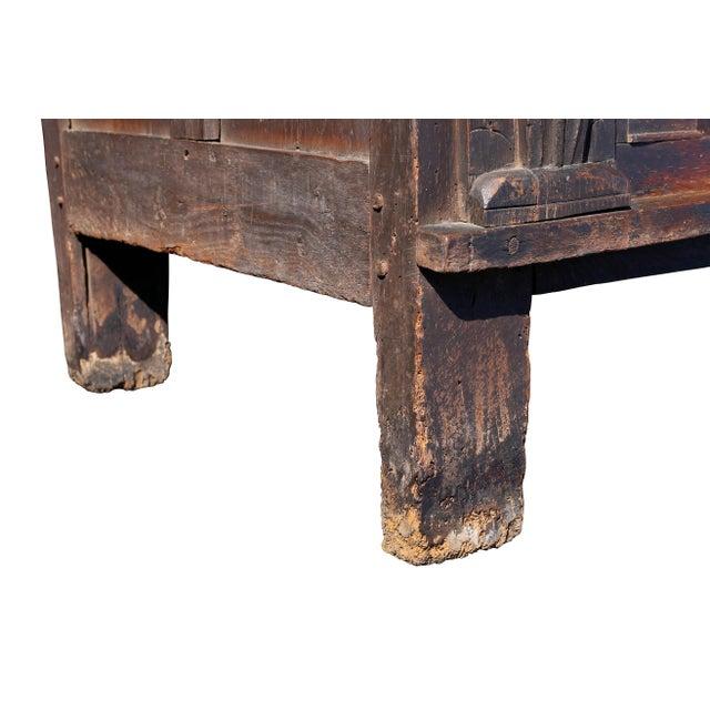 Oak Charles II Oak Coffer For Sale - Image 7 of 12