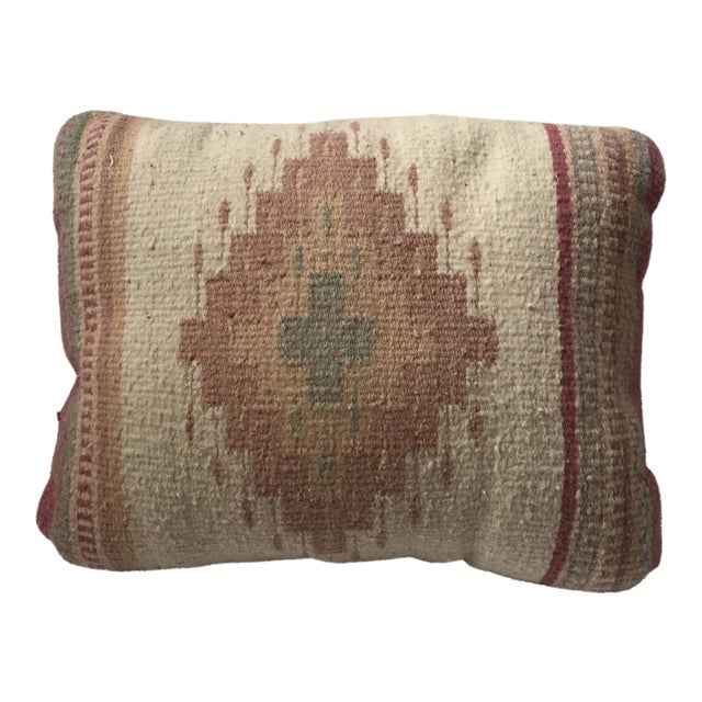 Southwestern Rug Wool & Canvas Pillow - Image 1 of 6