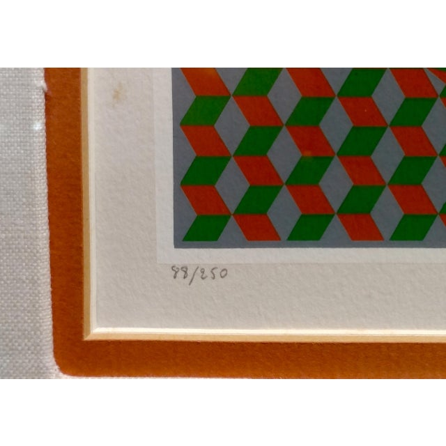 Victor Vasarely - Geometric Abstract - Signed Vintage Serigraph For Sale In Los Angeles - Image 6 of 10