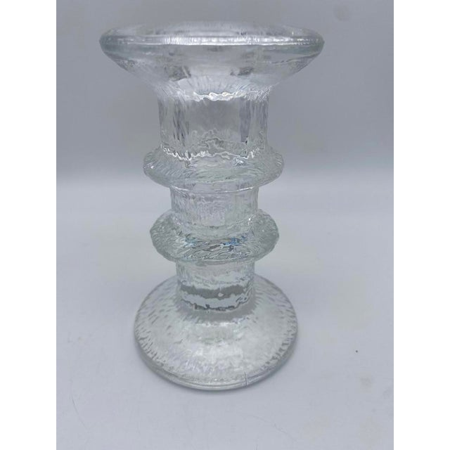 """Mid Century Timo Sarpaneva for Iittalia Glass """"Festivo"""" Candlestick Holders - Pair For Sale In San Diego - Image 6 of 8"""
