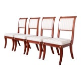 Image of Baker Furniture Neoclassical Greek Key Dining Chairs, Set of Four For Sale