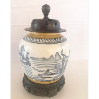 Antique Blue and White Canton Ginger Jar Preview