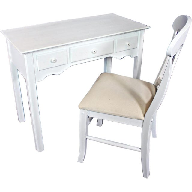 Whittier Furniture White Painted Children's Desk & Chair - Image 2 of 11
