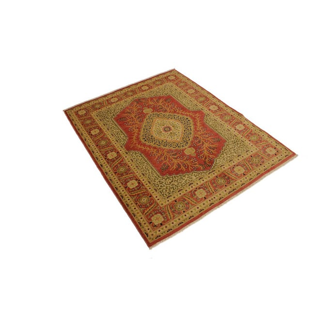 Shabby Chic Shabby Chic Istanbul Luke Rust/Gold Turkish Hand-Knotted Rug -4'10 X 5'11 For Sale - Image 3 of 8