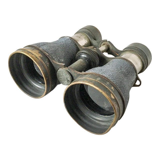 Antique Metal Opera Glasses Magnifying Binoculars For Sale
