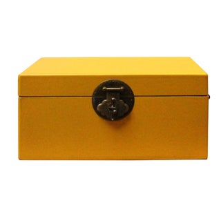 Chinese Yellow Rectangular Shape Container Box For Sale