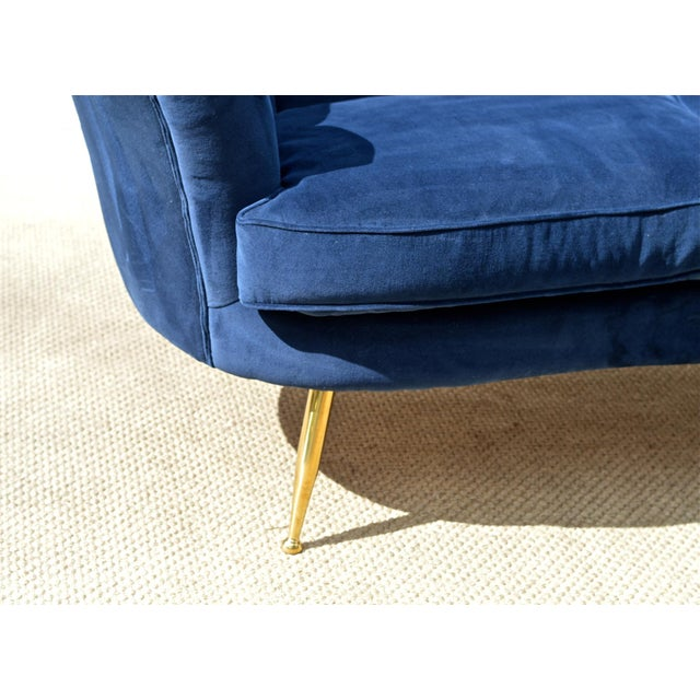 Textile Italian Modern Loveseat For Sale - Image 7 of 7