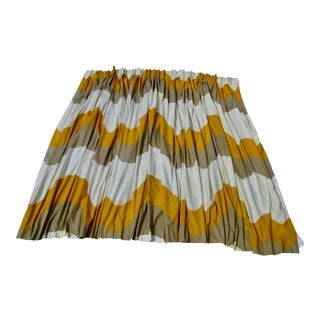 1967 Mid-Century Modern Curtains Drapes - a Pair For Sale