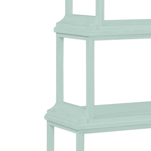 Traditional Jules Etagere in Palladian Blue - a Pair For Sale - Image 3 of 4