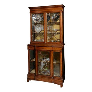 English Vitrine Cabinet For Sale