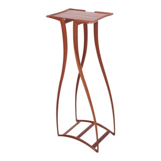 Rare and Signed Richard Tannen Studio Craft Plant Stand or High Table For Sale