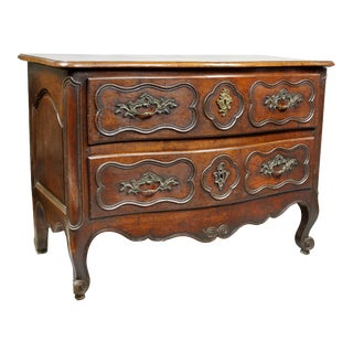 Louis XV Provincial Walnut Commode For Sale