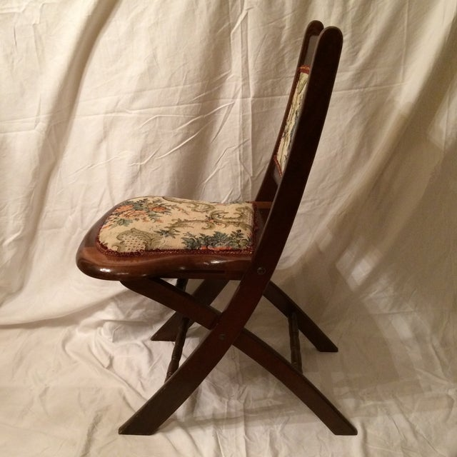 Vintage Victorian Style Campaign Parlor Chairs - Set of 4 - Image 4 of 11